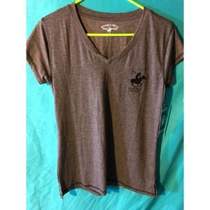 Beverly Hills Polo Club Women's V-Neck Shirt Sz M